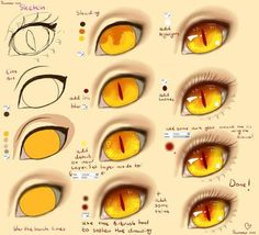 Learn To Draw Eyes – Drawing On Demand Anime eyes, text, monster, demon; How to Draw Manga/Anime Eye Drawing Tutorials, Digital Painting Tutorials, Digital Art Tutorial, Drawing Techniques, Drawing Tips, Art Tutorials, Drawing Sketches, Art Drawings, Drawing Ideas