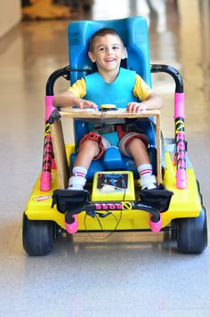 Adapted Powerwheel Vehicles-Go Baby Go Project; This is a program that adapts powered play vehicles so that kids with special needs can drive them independently. Created by: NationSwell; Visit: https://www.youtube.com/watch?feature=player_embeddedv=U-NE7B0RTdA