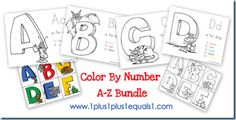 Color by number A-Z