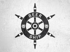 Nautical beer logo by Meydjer Luzzoli