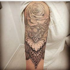 Resultado de imagen para Mandala rose Flower sleeve