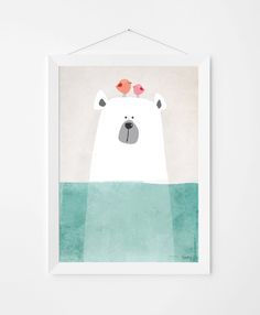 Poster print muur kunst. Illustratie art print door PenguinGraphics