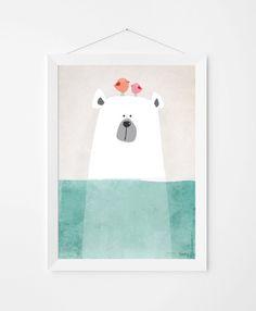 Poster print muur kunst. Illustratie art print door PenguinGraphics