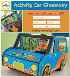 Enter for a Chance to WIN a Activity Car! Giveaway ends February 14, 2014. #kidkraft #giveaway #contest #kids