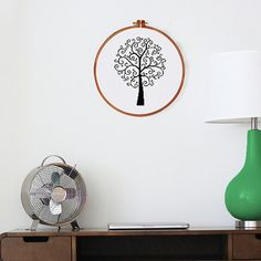 Swirl Tree cross stitch pattern modern cross stitch by ThuHaDesign