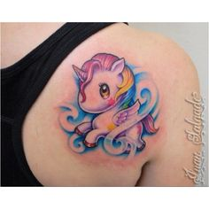 Cute tattoo! Tokidoki unicorn - My next tattoo with the little girls name and birthdate on it. :)