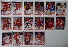 1990-91 Upper Deck UD Detroit Red Wings Team Set of 16 Hockey Cards #DetroitRedWings