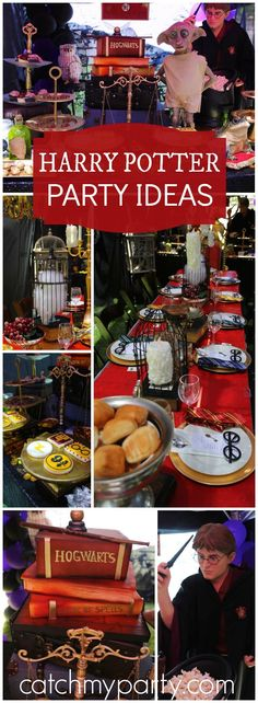 You need to see this fantastic Harry Potter birthday party! See more party ideas at Catchmyparty.com!