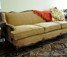 Reupholstering a Sofa - I'm gonna do this instead of buying a new living room suit