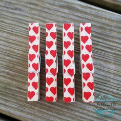 Christmas Gift or Stocking Stuffer Idea: Heart Print Clothespin Magnets $5