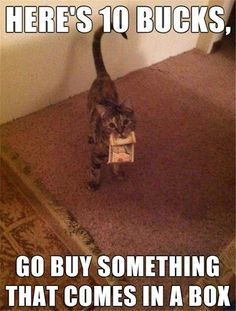 Go buy something that comes in a box