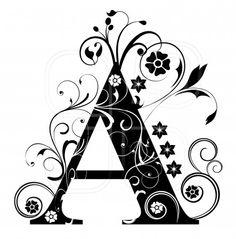 Letter Capital A, alphabet, arabic, art