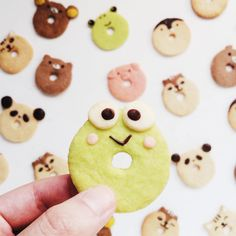 """""""You're unfrogettable """" Assorted """"O"""" Face Animal Cookies - Samantha ♡♥♡♥♡♥ Kawaii Cookies, Cute Cookies, Yummy Cookies, Party Time, Biscuits, Bakery, Tasty, Instagram Posts, Desserts"""