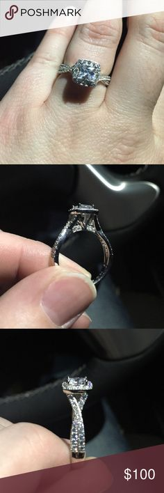Beautiful cz ring Bought it off posh false info! It's sterling silver with cz diamonds. Looks amazing! Jewelry Rings
