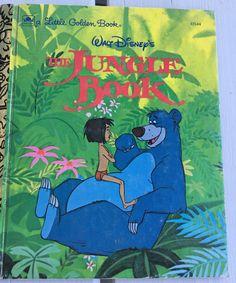 vintage Little Golden Book, Walt Disney's The Jungle Book, Rudyard Kipling, 103-64, 1991 edition by MotherMuse on Etsy