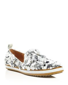 ed95f45a3fd Bill Blass transforms the polished loafer silhouette with an air of whimsy  in silvery sequins and