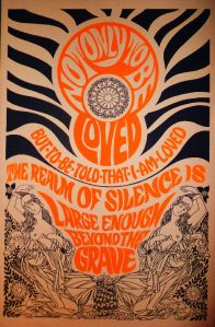 H is for Hippie Poster, black light, Pandora Productions.