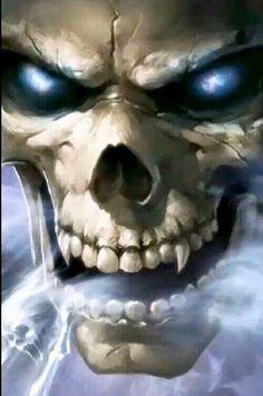 Face of Evil « Legacy of Horror Evil Skull Tattoo, Skull Tattoos, Body Art Tattoos, Dark Fantasy Art, Dark Art, Grim Reaper Art, Totenkopf Tattoos, Reaper Tattoo, Skull Pictures