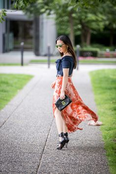 Valentina and Aveline: How To Wear Maxi Skirt This Summer