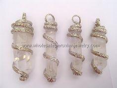 Coiled Quartz Crystal Pendantshttp://www.wholesaleperuvianjewelry.com