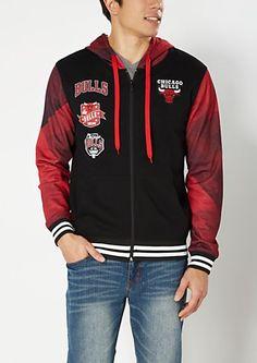 4a90f8085be Chicago Bulls Commemorative Championship Black Varsity Jacket ...