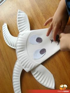 paper plate kids crafts | Paper plate goat