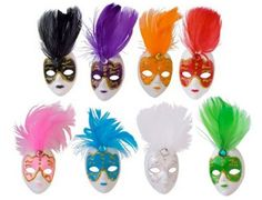 Mini Masquerade Mask Magnet Favors - 12 Masks - Free Shipping! by MyLACrafts