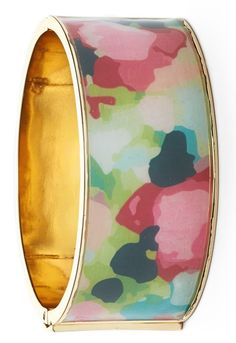 Love the charming pattern on this wide feminine bangle.