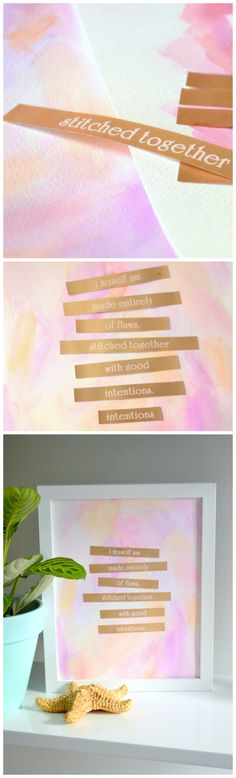 Creative and affordable DIY Mother's Day gift idea! Custom quote art by @uglyducklingdiy for #Brother #LabelIt