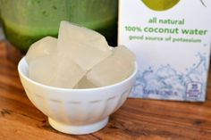 "Smoothie Tip: ""If you use ice in your smoothies, you might like the frosty texture but not the way it tends to water down flavours.  Here's a tasty alternative: ice cubes made from coconut water.  Coconut water or juice is lightly sweet, refreshing and loaded with minerals.  I especially like adding it to green smoothies with kale or spinach (plus young coconut meat if I'm feeling really indulgent), but its mild flavour works in practically any smoothie."" - The Kitchn"
