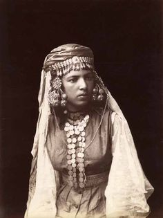 Africa | Portrait of Kabyle woman, Algeria, circa 1880. | Photographer unknown