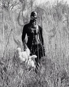 Image via We Heart It #gasmask #gothic