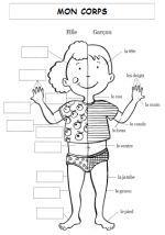 A LA DECOUVERTE DU VIVANT French Teaching Resources, Teaching French, Learning French For Kids, Kids Learning, French Body Parts, Body Preschool, French Worksheets, Back Up, Core French