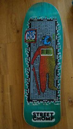 G&S - Street Chomp Old School Skateboards, Vintage Skateboards, Skate Decks, Skateboard Decks, Skate Art, Skates, Decking, Skateboarding, Beautiful Beaches