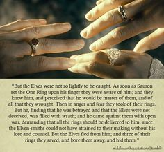 - About the Great Rings and the Elves, The Silmarillion, Of the Rings of Power and the Third Age
