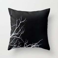 Decorative Pillow Cover,Branches, Nature, Home Decor, Bedroom, Living Room, Throw Pillow, Dorm, Black, White, Manzanita, Minimal, Minimalist...