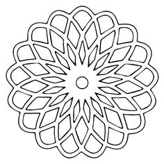 Perfect for the laser cutter. Colouring Pages, Adult Coloring Pages, Coloring Books, Laser Art, Laser Cut Wood, Crochet Bedspread Pattern, Stained Glass Patterns, Scroll Saw, Mandala Design
