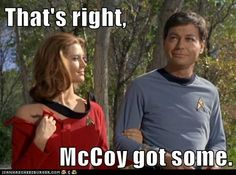 That's right, McCoy got some.