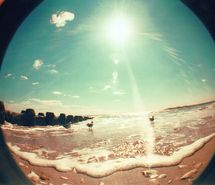 beach, beautiful, fish eye, light, lomo, lomography