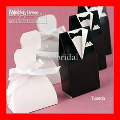 Wholesale Party Boxes - Buy NEW Fashion White Black Bows 100 Stock Wedding Bridal Favors Candy Party Boxes Favor, $0.24 | DHgate