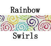 Peyote Pattern Rainbow Colorful Swirls Peyote Stitch by MigotoChou, $6.00