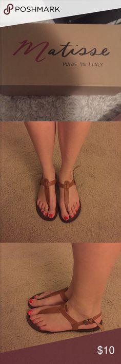 Matisse tan leather sandals Very cute Matisse tan leather sandals Shoes Sandals