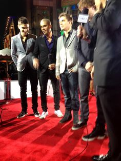 The Wanted stopped by my platform and were so kind and very starstruck by all the celebrities at the PCAs, very cute!