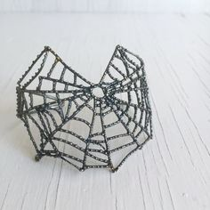 Spiderweb Cuff Bracelet (Oxidized Silver) by Chase and Scout. Curious handmade jewelry for men and women, based in Austin Texas. Snake Jewelry, Wire Jewelry, Handmade Jewelry, Unique Jewelry, Handmade Gifts, Jewelry Ideas, Jewlery, Sterling Silver, Oxidized Silver
