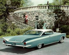 1959 Buick Invicta. 1959 was the wildest year for fins. And the Buck's were right out there. Eclipsed by the Caddy's for sheer madness these were not too far behind. Corvette had the Sting Ray- this looks like a Manta Ray.
