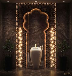 Contemporary interior decor with oriental touches - Haus Dekorationen Restaurant Interior Design, Bathroom Interior Design, Interior Decorating, Ceiling Design, Wall Design, Classic Bathroom, Modern Bathroom, Arabic Decor, Moroccan Bathroom