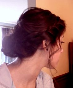 Did my sister's hair for her dance