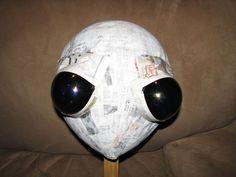 paper mache alien head - Google Search