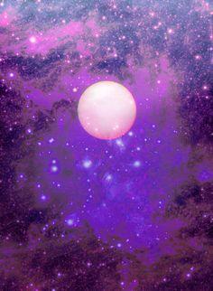 magical purple moon