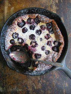 Cherry Clafoutis via Sweet Sugar Bean #recipe